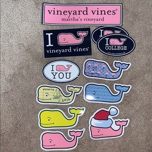 Vineyard Vines Deluxe whale sticker collection